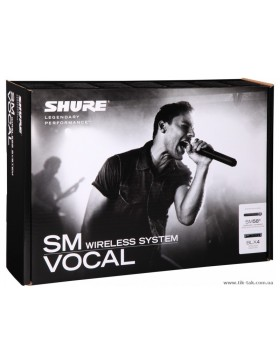 SHURE SM VOCAL WIRELESS SYSTEM BLX24E SM58+BLX4